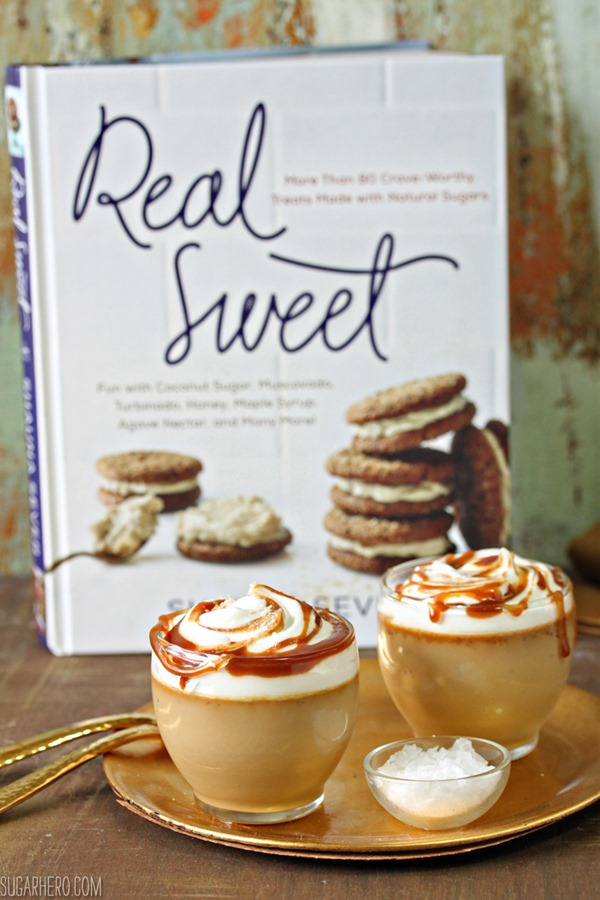 Butterscotch Pots de Creme | From SugarHero.com