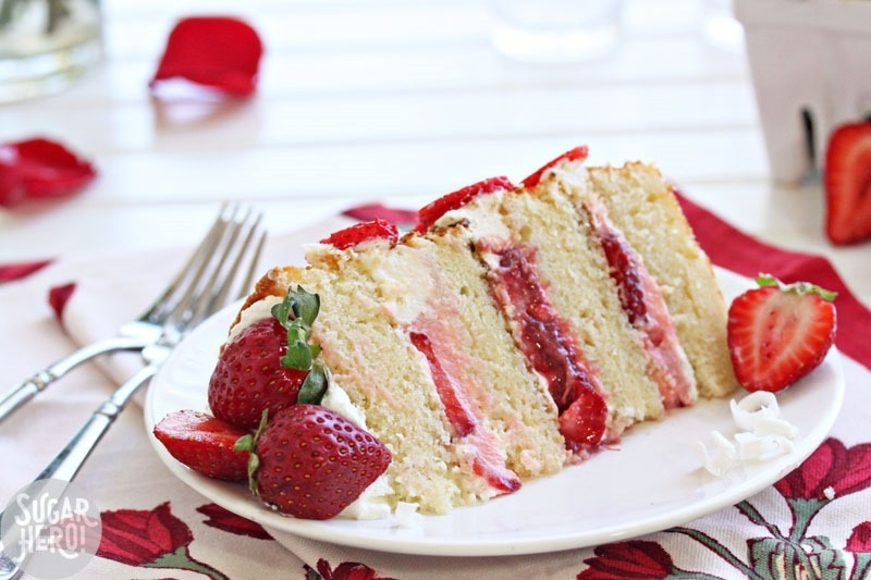 Strawberry Rhubarb Shortcake | From SugarHero.com