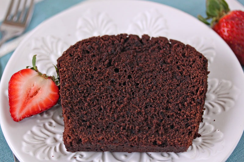 Chocolate Pound Cake | From SugarHero.com