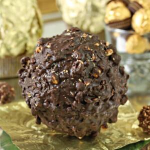 Ferrero Rocher Hazelnut Mousse Cake | From SugarHero.com