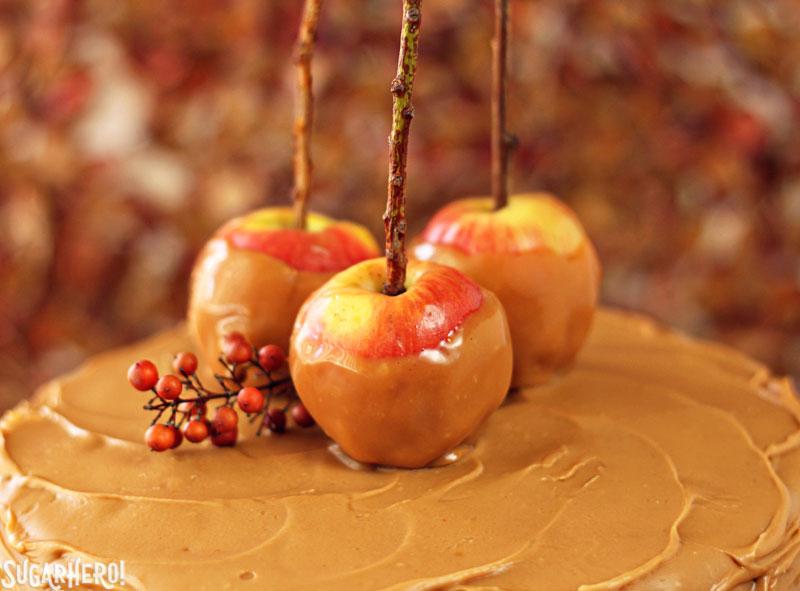 Caramel Apple Cake | From SugarHero.com