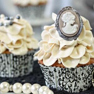 Earl Grey Lavender Cupcakes   From SugarHero.com