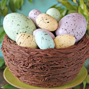 Easter Nest Cake | From SugarHero.com