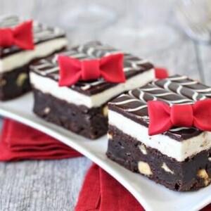 Tuxedo Brownies | From SugarHero.com