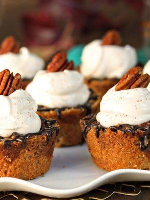 Mini Pecan Pies | From SugarHero.com