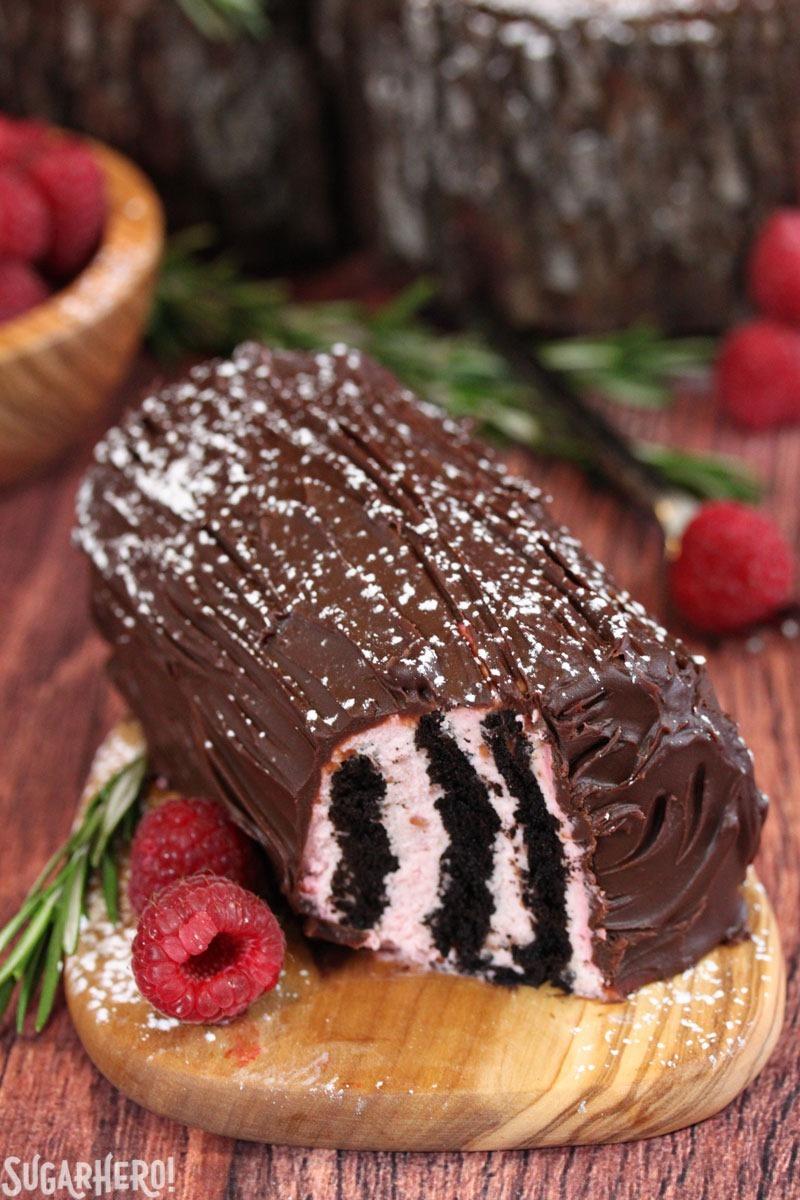 Mini No-Bake Buche de Noel | From SugarHero.com