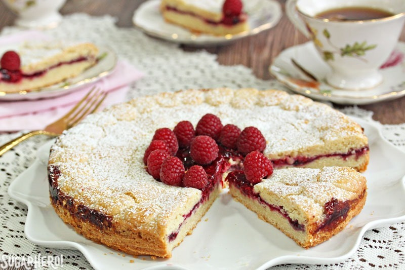 Linzer Cookie Cake | From SugarHero.com