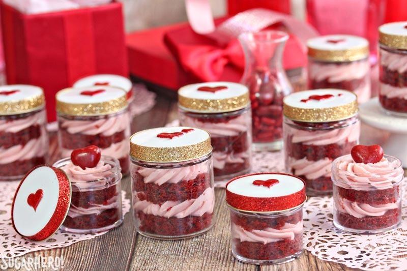 Red Velvet Cake In A Jar | From SugarHero.com