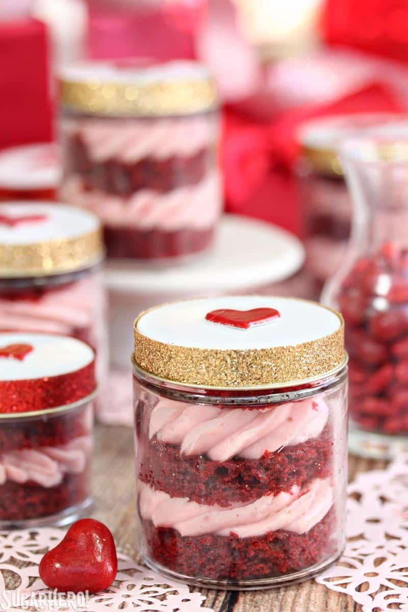 Red Velvet Cake In A Jar - SugarHero