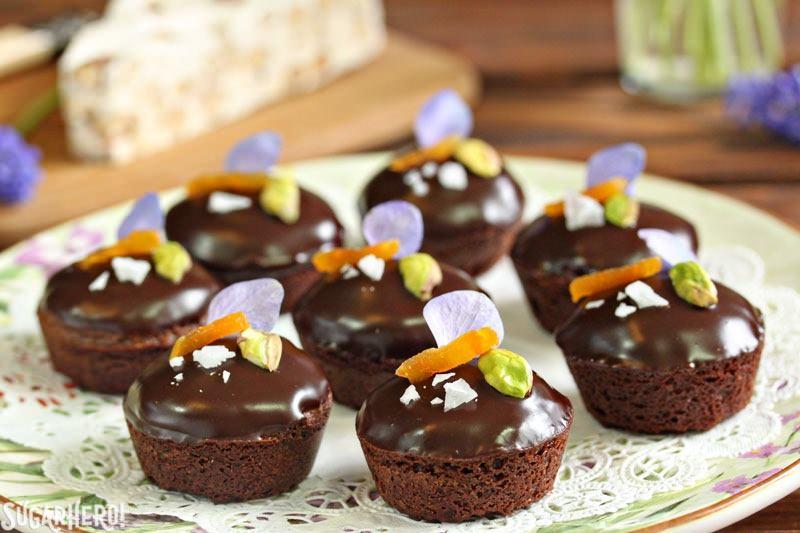 Nougat-Stuffed Brownie Bites | From SugarHero.com