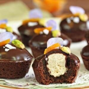Nougat-Stuffed Brownie Bites   From SugarHero.com