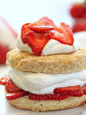 Grown-Up Strawberry Shortcakes | From SugarHero.com
