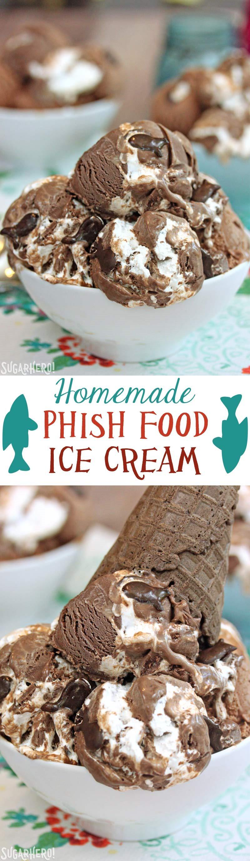 Homemade Phish Food Ice Cream | From SugarHero.com