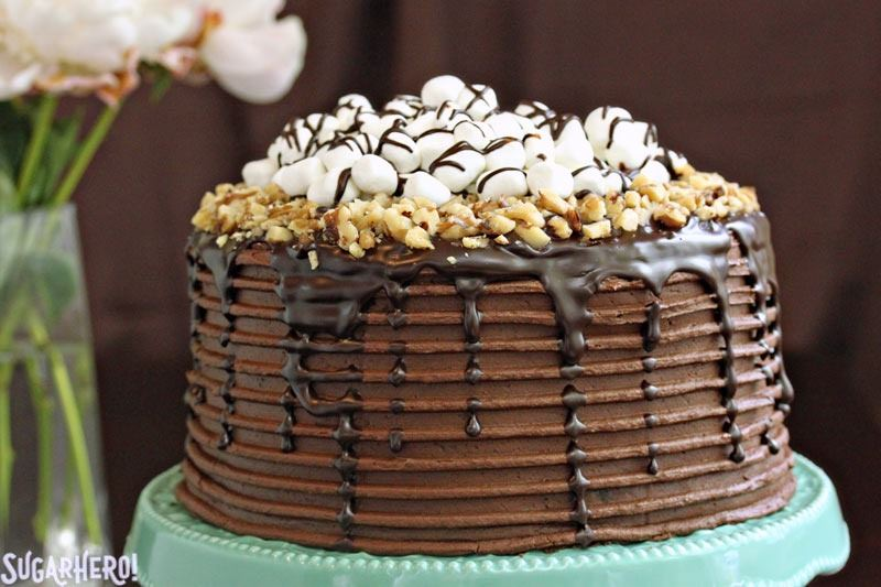 Rocky Road Layer Cake | From SugarHero.com