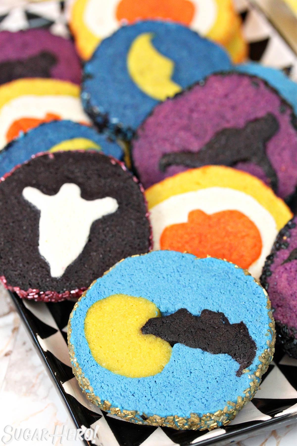 Slice and Bake Halloween Cookies   From SugarHero.com
