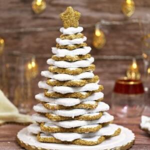 Gingerbread Christmas Cookie Tree | From SugarHero.com