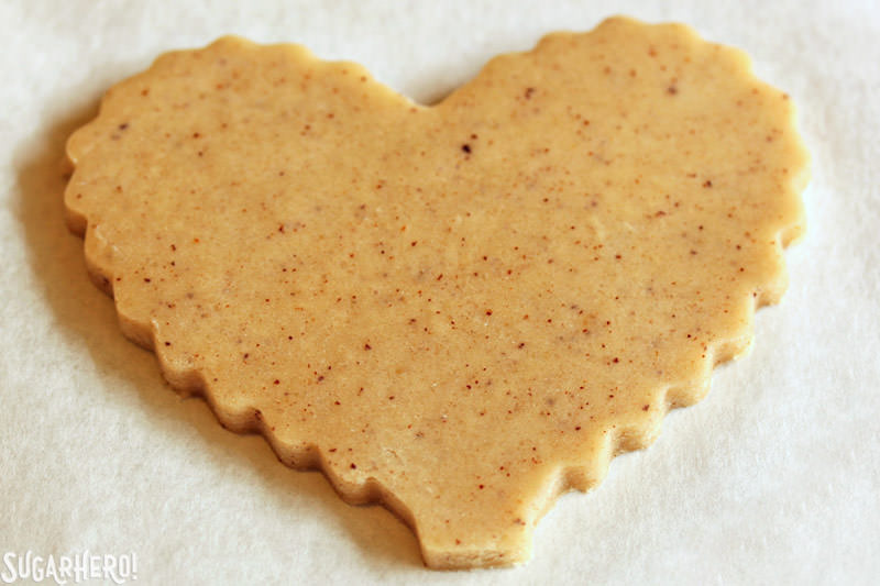 Brown Butter Heart Cookies Sugarhero