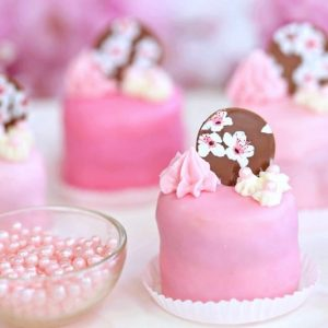 Cherry Blossom Petit Fours | From SugarHero.com