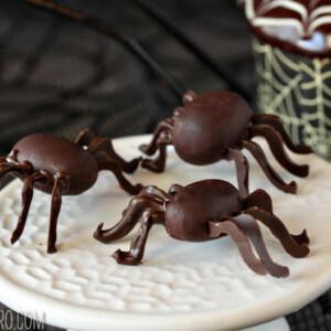 Chocolate Spiders | From SugarHero.com