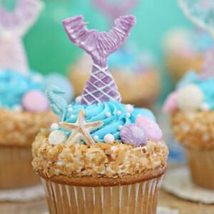 Mermaid Cupcakes   From SugarHero.com