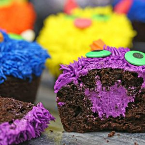 Stuffed Halloween Cupcakes | From SugarHero.com