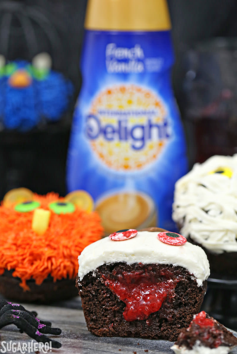 Stuffed Halloween Cupcakes - SugarHero