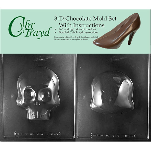 Skull 3D Candy Mold | From SugarHero.com