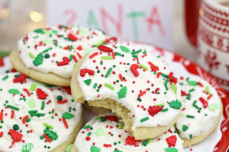 Christmas Cookie Frosting.Big Soft Sugar Cookies