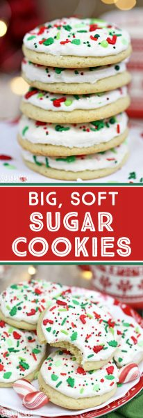 Big Soft Sugar Cookies | From SugarHero.com
