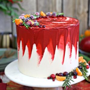 Brown Sugar Cranberry Cake | From SugarHero.com