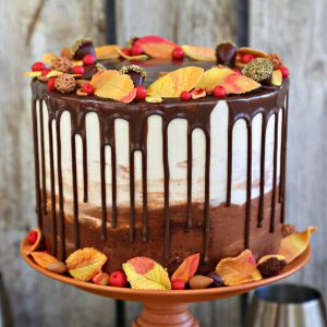 Festive Fall Layer Cake | From SugarHero.com