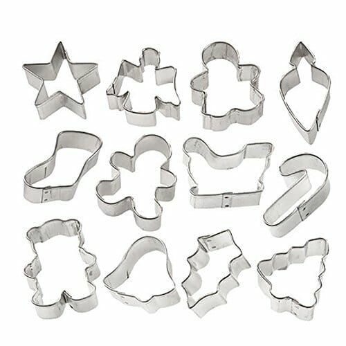 Mini Christmas Cookie Cutters | From SugarHero.com