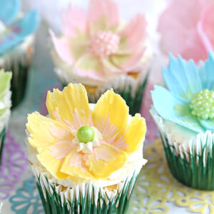 Easy Chocolate Flower Cupcakes | From SugarHero.com