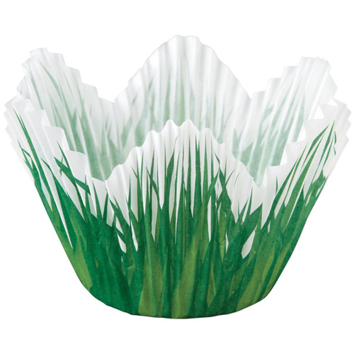Grass Petal Baking Cups | From SugarHero.com