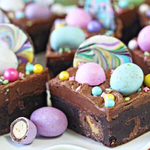 Malted Milk Chocolate Brownies | From SugarHero.com