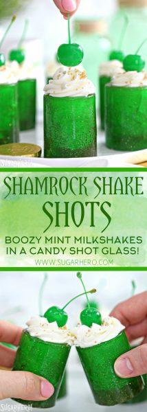 Shamrock Shake Shots   From SugarHero.com