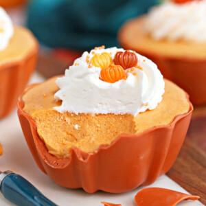Pumpkin Spice Mousse Cups | From SugarHero.com