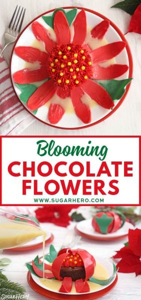 Blooming Chocolate Flowers | From SugarHero.com