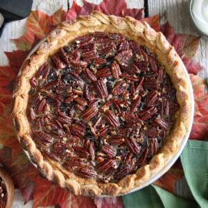 Deep Dish Pecan Pie | From SugarHero.com