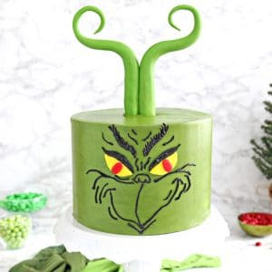 Grinch Cake | From SugarHero.com