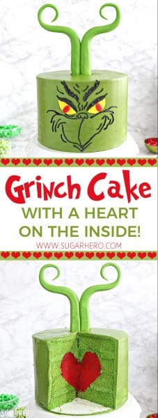 Grinch Cake | From SugarHero.com