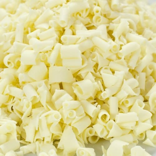 White Chocolate Curls | From SugarHero.com