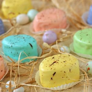 Easter Petit Fours | From SugarHero.com