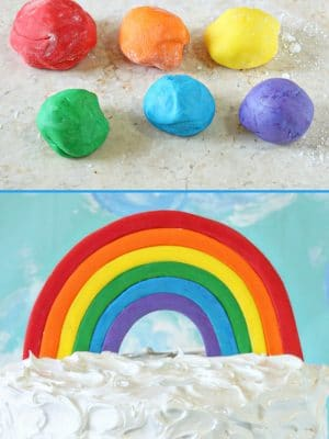Fondant Rainbow Cake Topper | From SugarHero.com