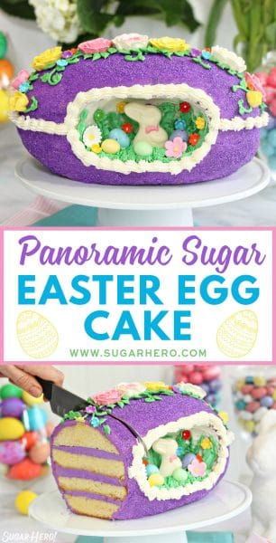 Sugar Easter Egg Cake | From SugarHero.com
