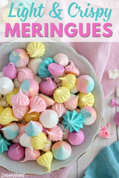 Meringue cookies collage