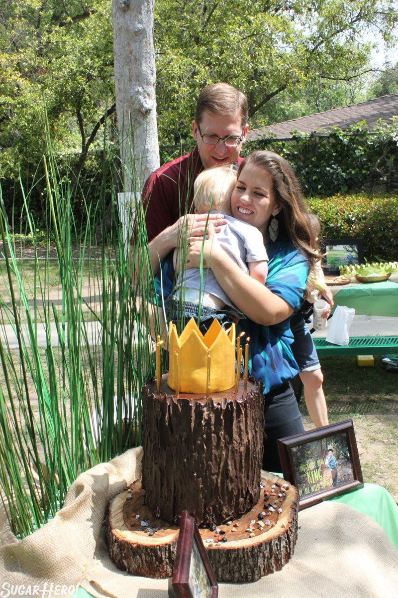 Where the Wild Things Are Birthday Cake - Photo of Asher being hugged by Elizabeth. | From SugarHero.com