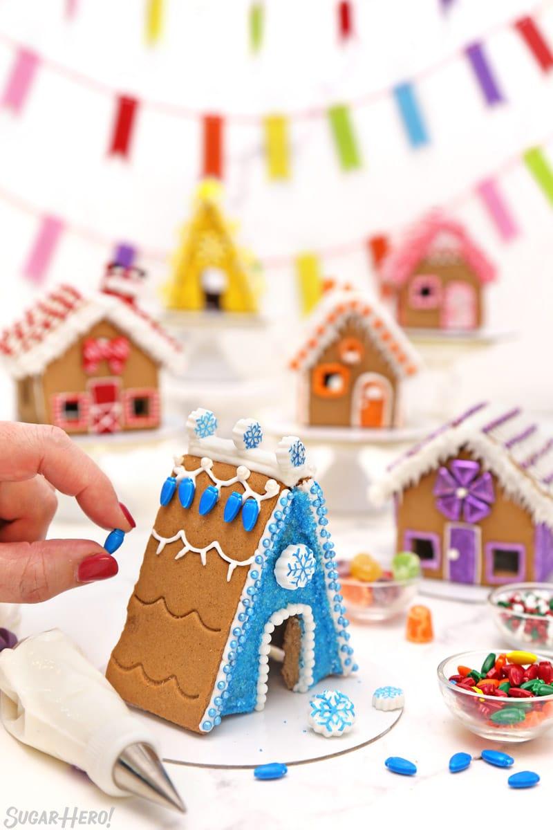 Rainbow Gingerbread House Village Decorating Ideas Sugarhero