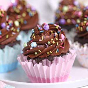 Chocolate Cupcake Recipe - super moist homemade chocolate cupcakes