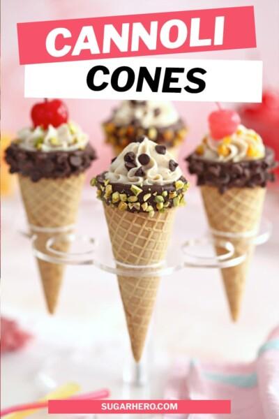 Cannoli Cones Pin